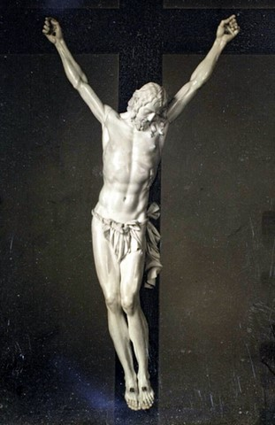 Dagueréotype vers 1850 Christ on the cross